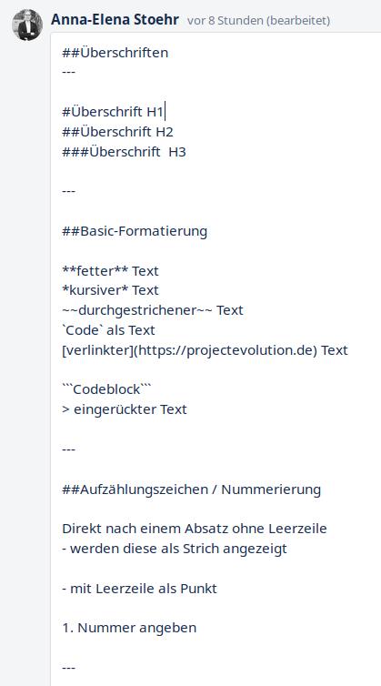 Inhalte in Trello formatieren: Markdown-Syntax